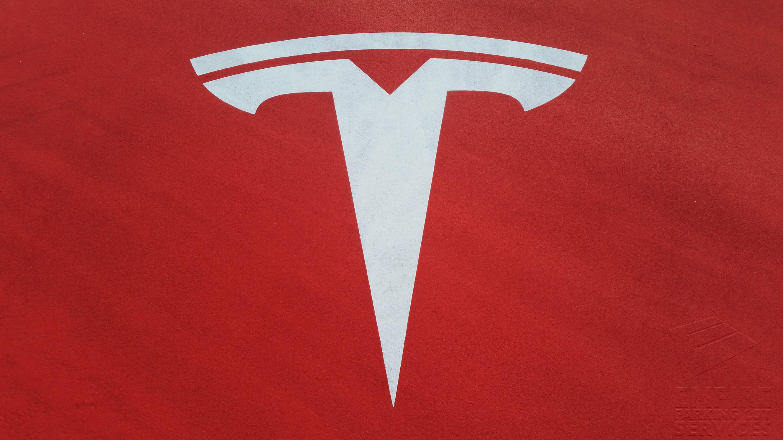 Parking Lot Striping Culver City Tesla Motors