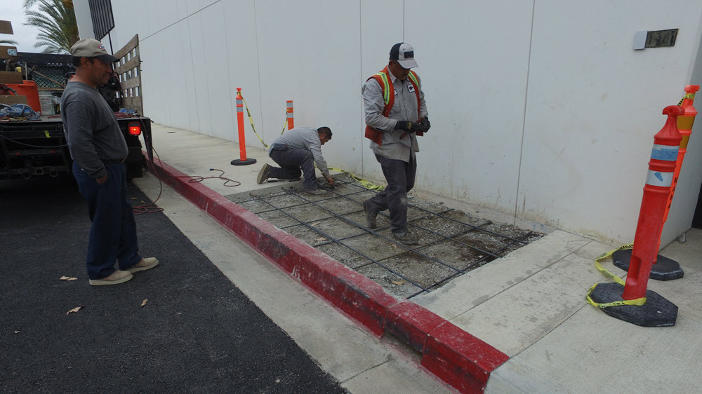 Concrete sidewalk repair Orange County