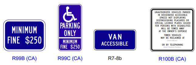 Current ADA Signs Required in California
