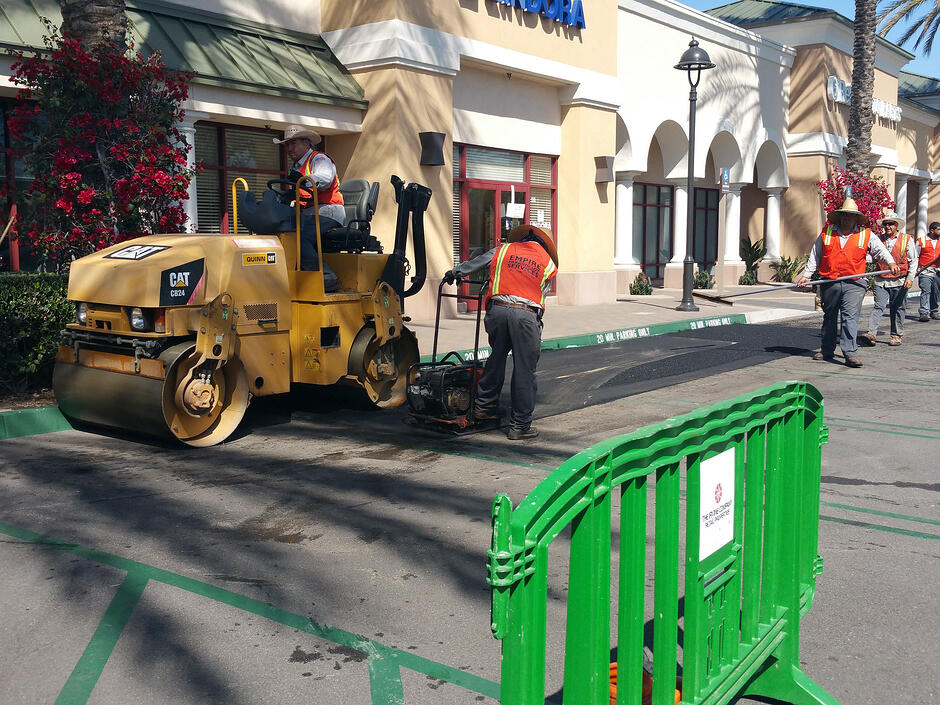 New Asphalt Repair at Irvine Company Retail Properties 2015