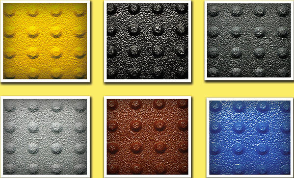 Truncated dome mat color choices