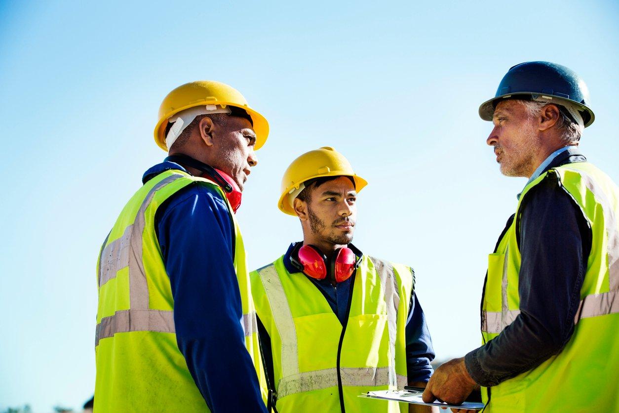 asphalt company workers talking