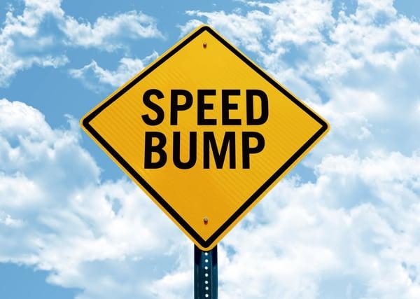speed bump sign installations