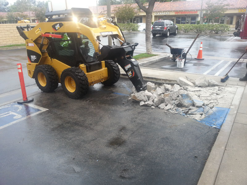 Handicap Ramp Construction