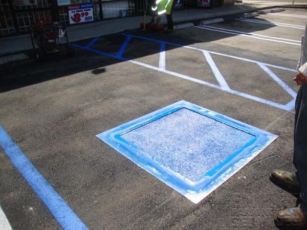 Handicap Parking Spot Striping