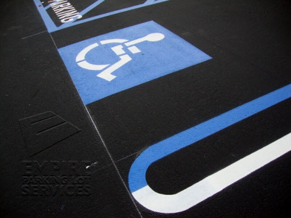 Striping Services for Handicap Spots