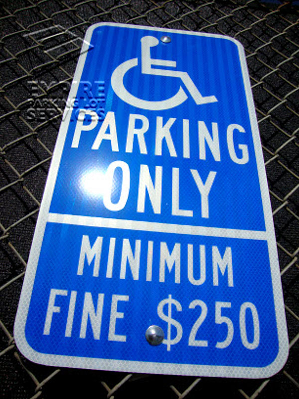 ADA Compliant Parking Signs