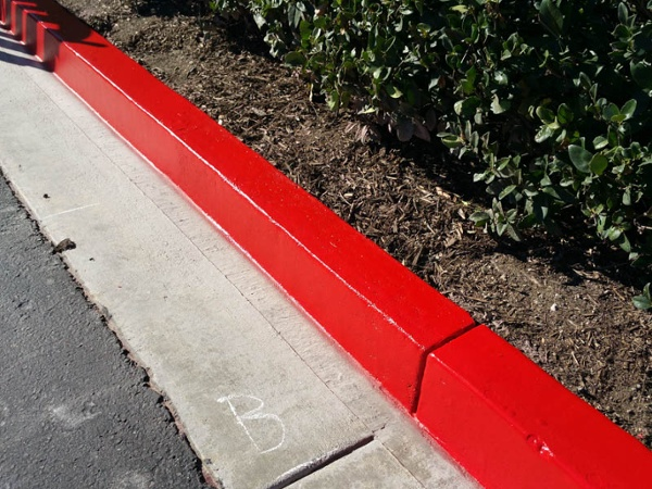 Parking Lot Striping Curb Painting