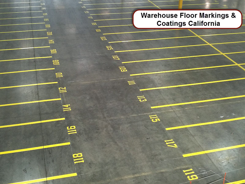 Warehouse Floor Stencil Painting