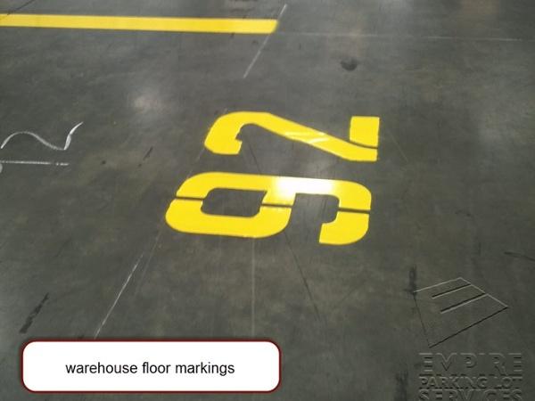 Warehouse Floor Stencil Services