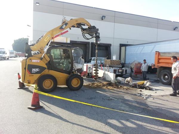 Warehouse Sign & Bollard Installation