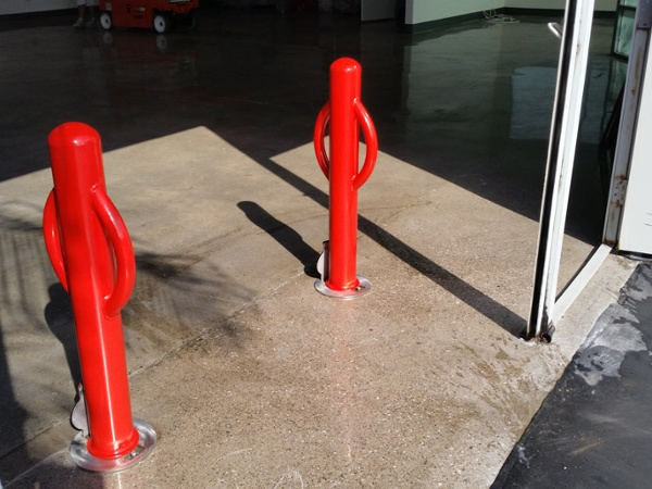 Outside Warehouse Bollards