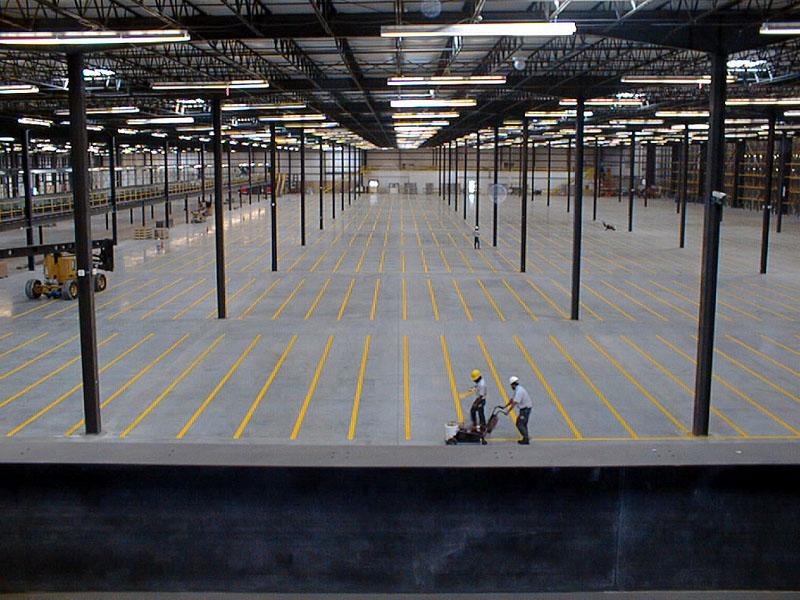 Warehouse Floor Line Painting