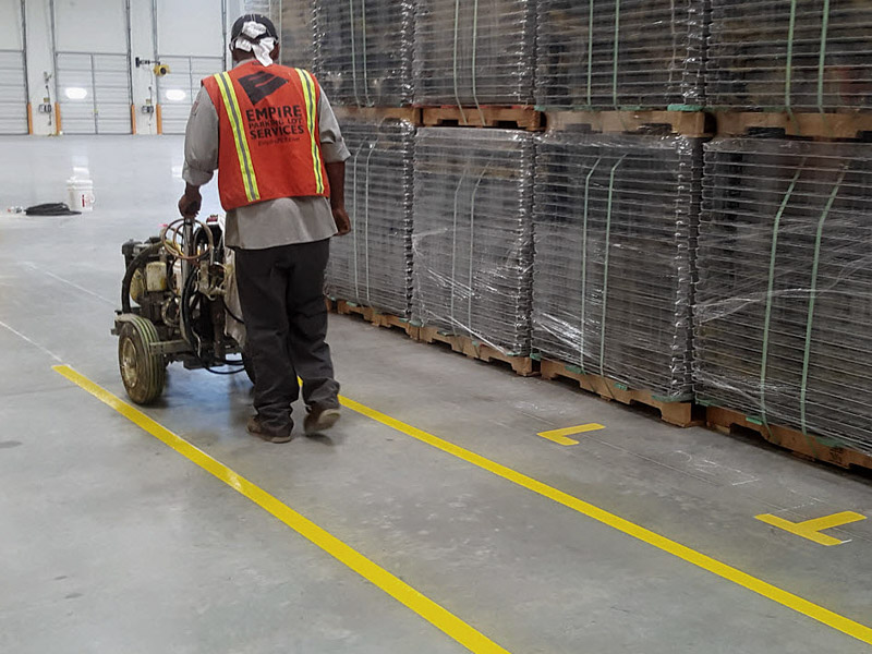 Warehouse Floor Striping Specialist