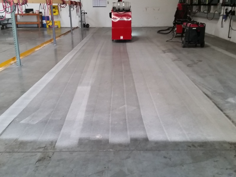 Warehouse shotblasting floor prep southern california for Concrete cleaning service